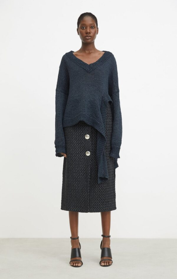 LEILANI SKIRT; BLACK SKIRT WITH RICH TEXTURE; RODEBJER
