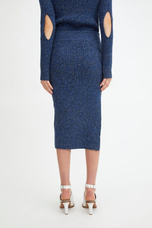 LENATA SKIRT; BLUE GREY WOOL SKIRT; RODEBJER