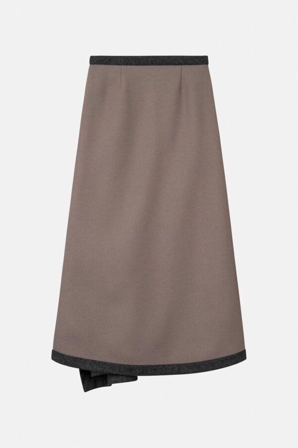 NADIA SKIRT, DUSTY SKIRT; MARK KENLY DOMINO TAN