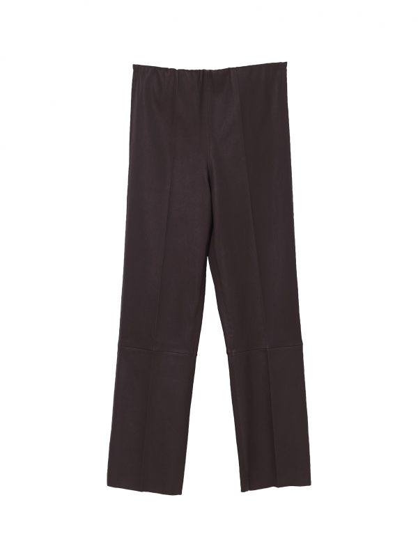 FLORENTINA PANTS; BURGUNDY PANTS; BY MALENE BIRGER