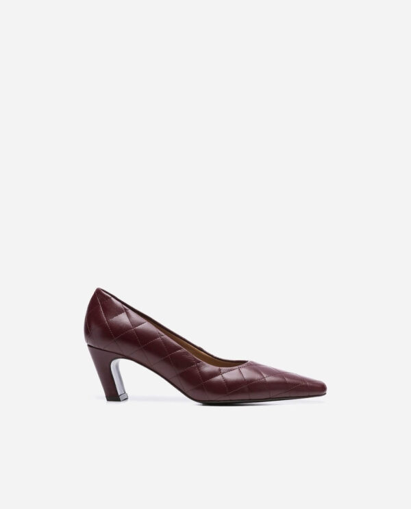 IGGY SHOES; BURGUNDY LAMB LEATHER WITH 5 CM HEEL; FLATTERED