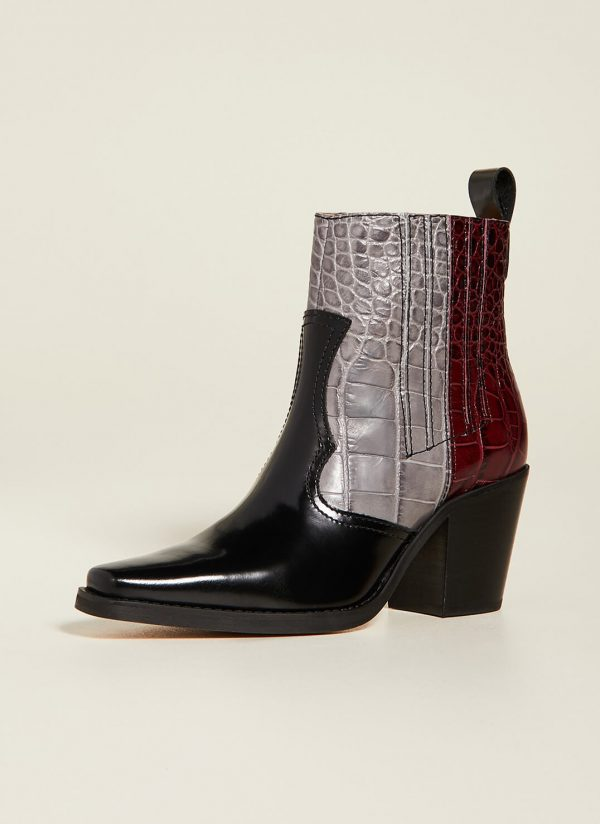 WESTERN BOOTS; PORT ROYAL ANKLE BOOTS; GANNI
