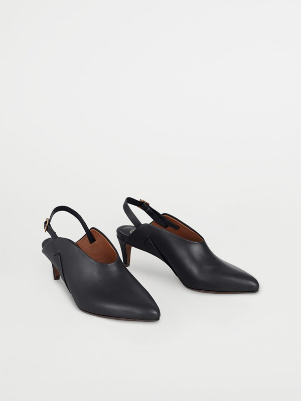 ABRA HEELS; BLACK SLINGBACKS WITH 5,5 CM HEEL; ATP ATELIER