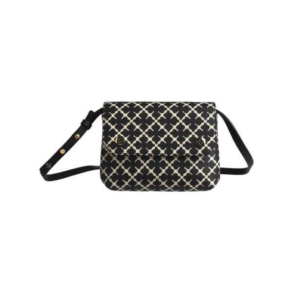 CROSSBY BAG, BY MALENE BIRGER, CROCO BROWN BAG WITH ENAMEL DETAIL