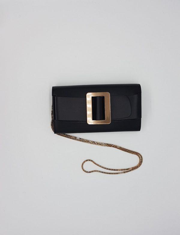 buckle long wallet