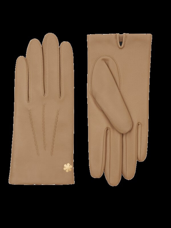 LADIES LADY GLOVES WITH CHIC TOUCH IN BEIGE