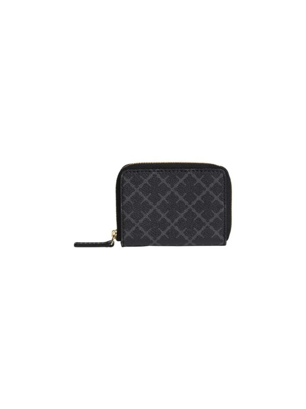 ELIA WALLET; GREY CANVAS WITH SIGNATURE LOGO COIN WALLET; BY MALENE BIRGER