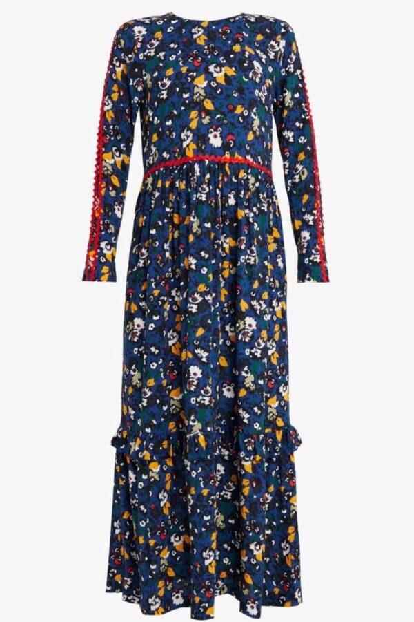 ALOOF DRESS; NAVY FLOWER DRESS; LIBERTINE LIBERTINE