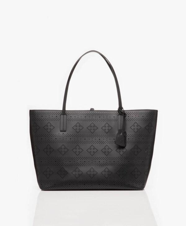 EVIN BAG BY MALENE BIRGER SHOPPER BAG PERFORATED BLACK
