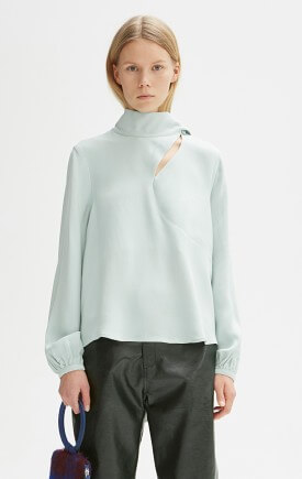 PANNI OILY GREEN BLOUSE, RODEBJER