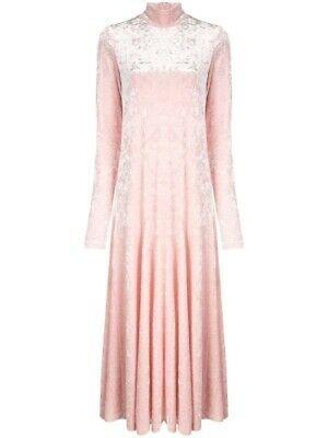 BOKOVA DRESS; SILVER/PINK VELVET DRESS; GANNI