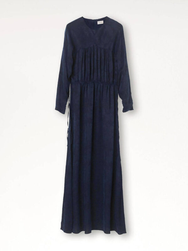 AGAVE DRESS; LONG DARK NAVY DRESS; BY MALENE BIRGER