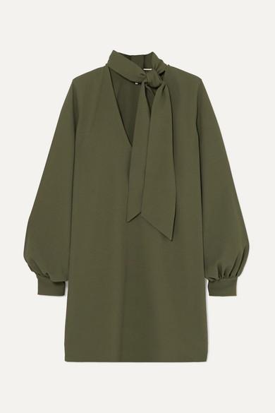 HEAVY CREPE DRESS; V-NECK MINI DRESS; GANNI