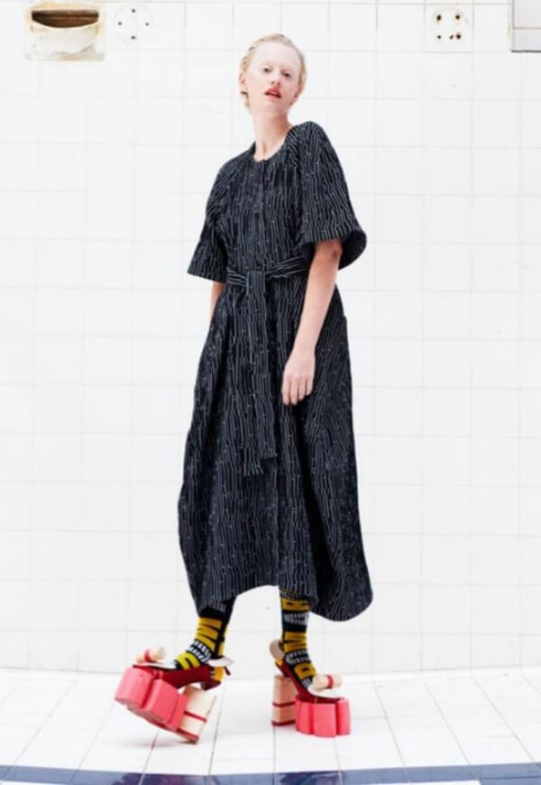NO.1 DRESS; LINE DOT DRESS; HENRIK VIBSKOV