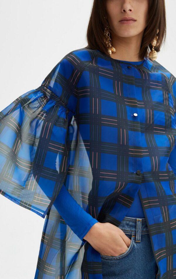 SAMU DRESS; CHIFFON ULTRAMARINE BLUE DRESS; RODEBJER