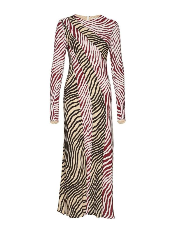 TRACI DRESS; ANIMAL PRINT LONG DRESS; BY MALENE BIRGER