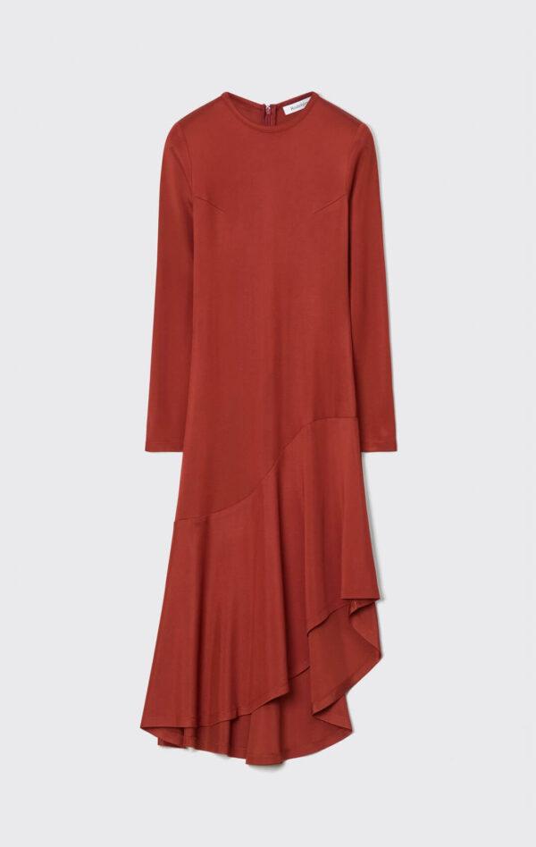 BAJNOK DRESS; TONKA BROWN ASIMETRIC DRESS; RODEBJER