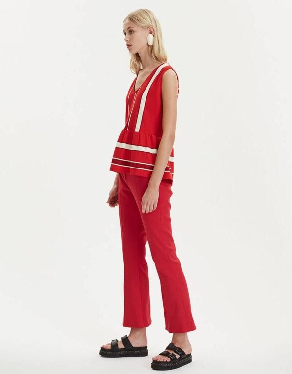 FLAUNT PANTS, RED, LIBERTINE LIBERTINE