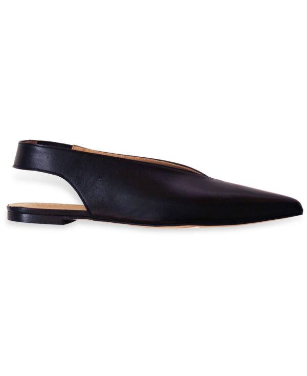 BEKELY BLACK SHOES ANOTHER PROJECT SLING BACK FLATS