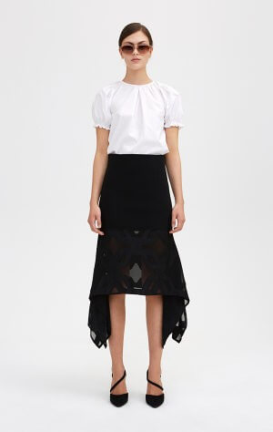 VENDELA BLACK SKIRT; RODEBJER