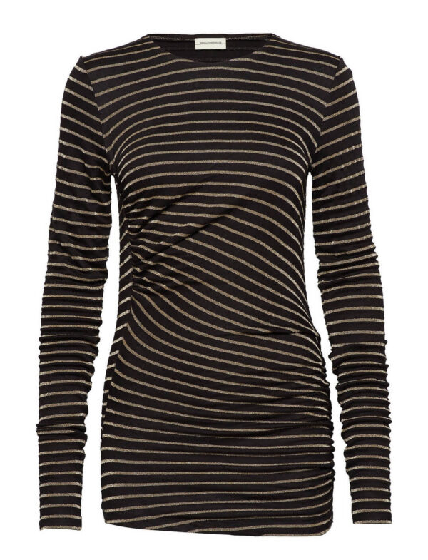 UPIA SWEATER; BLACK/GOLD TOP; BY MALENE BIRGER