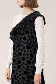 TINI DRESS; VELVET DOTS DRESS ONE SHOULDER; STINE GoYA