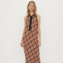 DRE3008S91 DRESS; DRESS ORANGE/NAVY; BY MALENE BIRGER